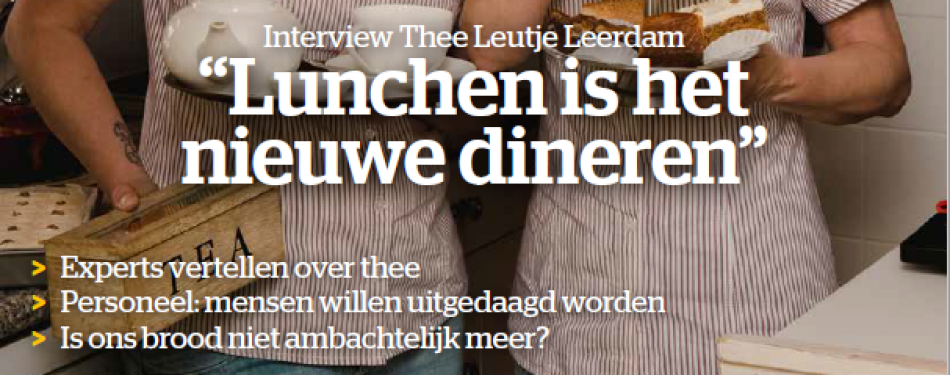 Juni-editie Lunchroom: alles over thee, terras-etiquette, gebak en brood
